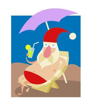 Vacationing Santa